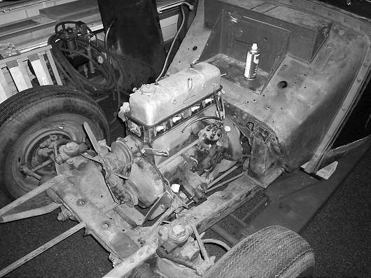 MG TD XPAG engine still in place